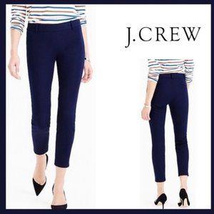 NEW J.CREW Navy Crop Skinny Leg Minnie Pants Sz 0